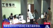 自贸进行时:海南省成功发行123.5亿元地方政府债券