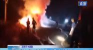 昌江:货车行驶途中着火 消防大队紧急救援