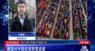 德國對中國實現貿易逆差
