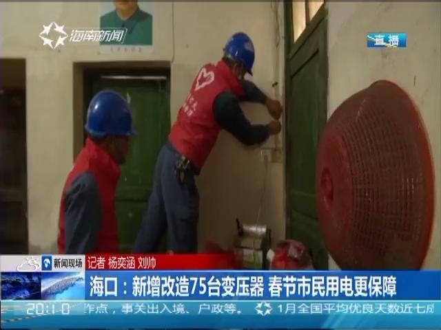 海口:新增改造75台变压器 春节市民用电更保障
