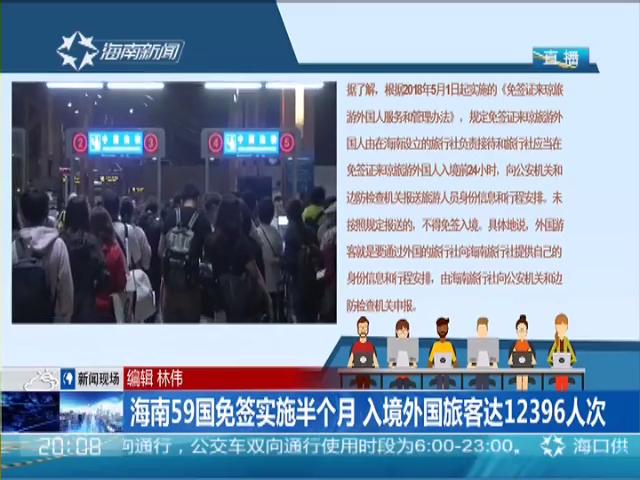 海南59国免签实施半个月 入境外国旅客达12396人次
