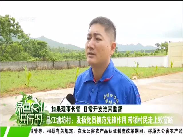 昌江塘坊村:发扬党员模范先锋作用 带领村民走上致富路