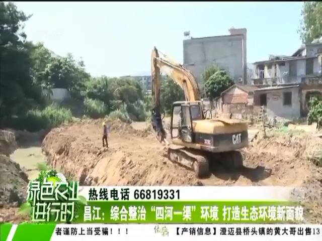 """昌江:综合整治""""四河一渠""""环境 打造生态环境新面貌"""