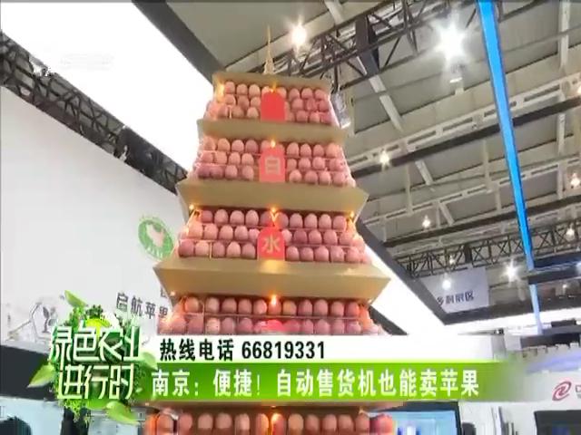 南京:便捷!自动售货机也能卖苹果