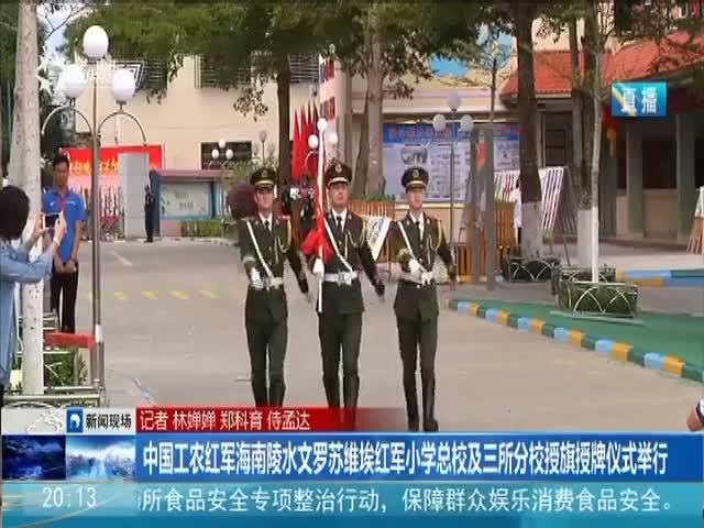 中国工农红军海南陵水文罗苏维埃红军小学总校及三所分校授旗授牌仪式举行