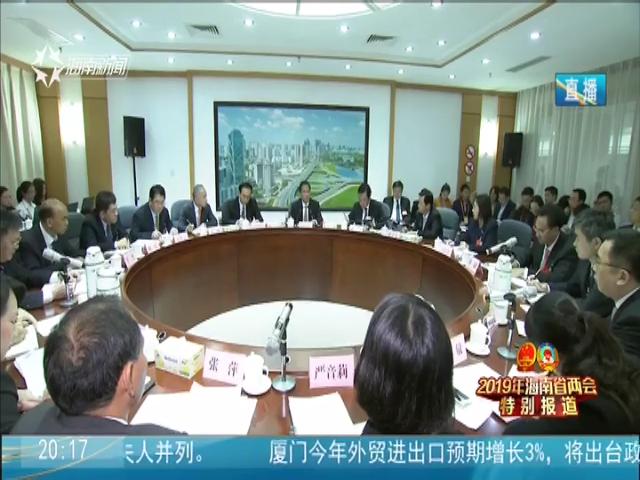 刘赐贵在海口代表团参加审议时指出:坚持全省一盘棋 全岛同城化推动高质量发展