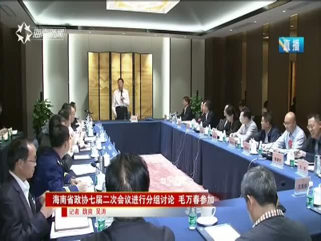 海南省政协七届二次会议进行分组讨论 毛万春参加