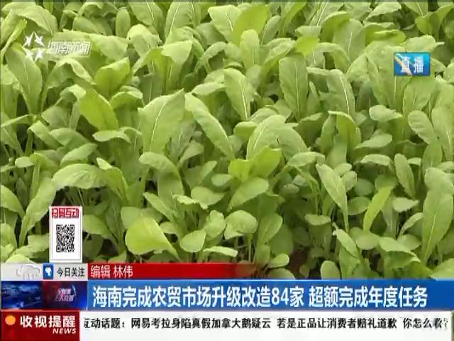海南完成农贸市场升级改造84家 超额完成年度任务