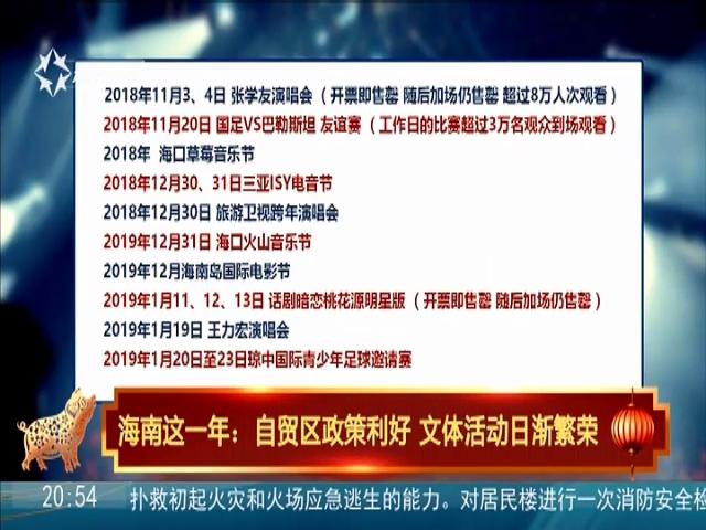 海南这一年:自贸区政策利好 文体活动日渐繁荣