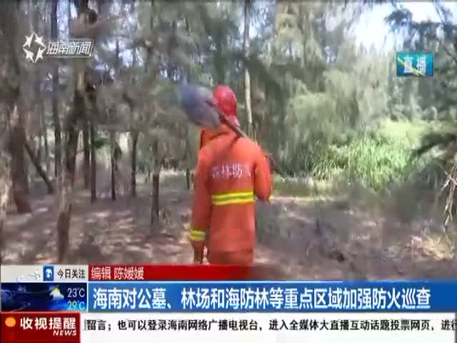 海南对公墓、林场和海防林等重点区域加强防火巡查