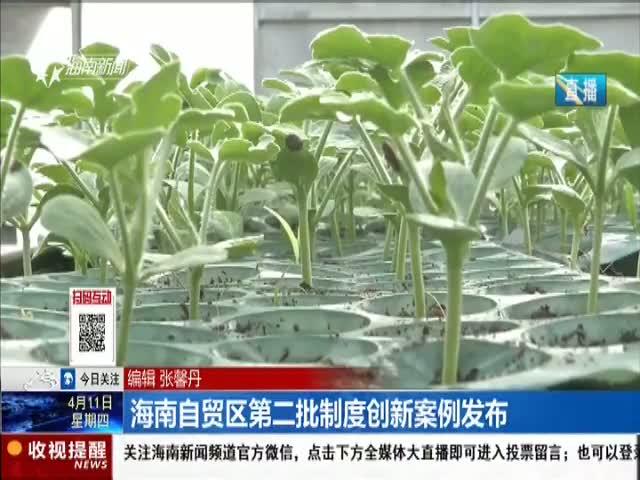 海南自贸区第二批制度创新案例发布