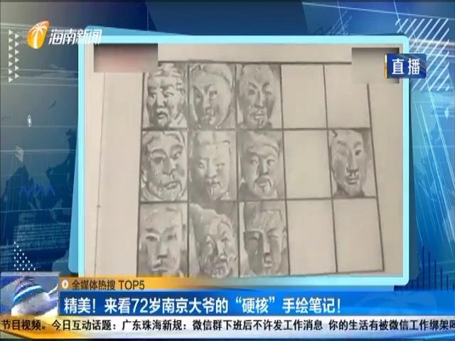 """精美!来看72岁南京大爷的""""硬核""""手绘笔记!"""