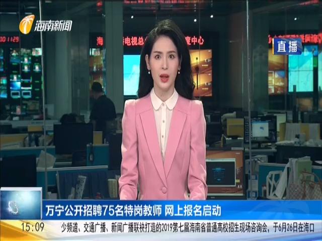 万宁公开招聘75名特岗教师 网上报名启动