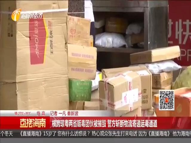 横跨琼粤两省贩毒团伙被摧毁 警方斩断物流寄递运毒通道