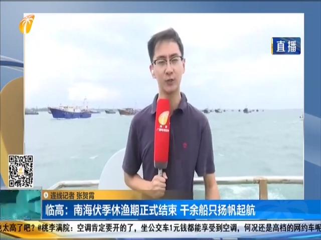 臨高:南海伏季休漁期正式結束 千余船只揚帆起航