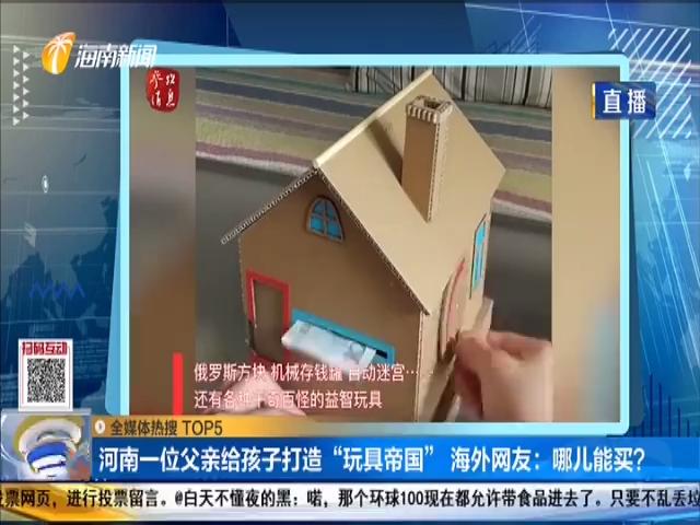 """河南一位父亲给孩子打造""""玩具帝国"""" 海外网友:哪儿能买?"""