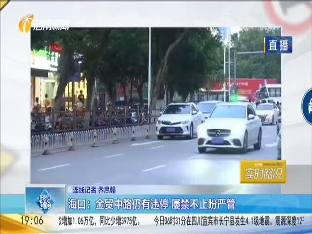 海口:金贸中路仍有违停 屡禁不止盼严管