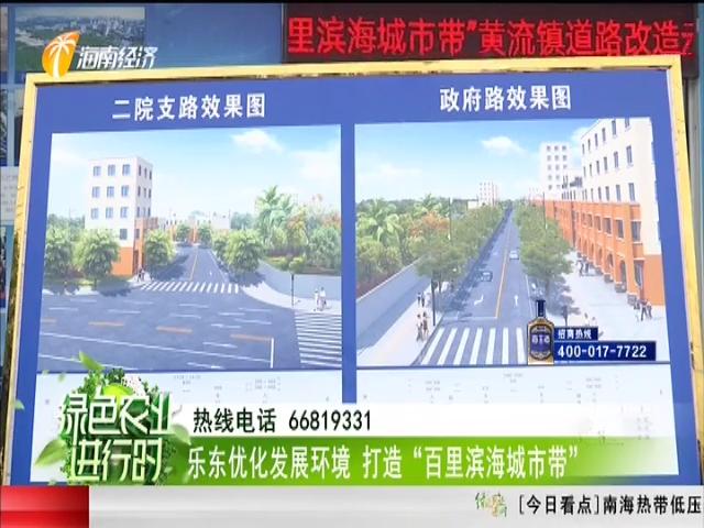 """乐东优化发展环境 打造""""百里滨海城市带"""""""
