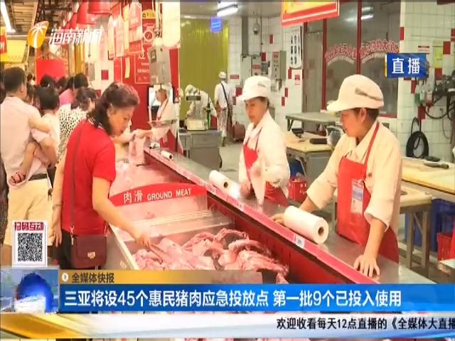 三亚将设45个惠民猪肉应急投放点 第一批9个已投入使用