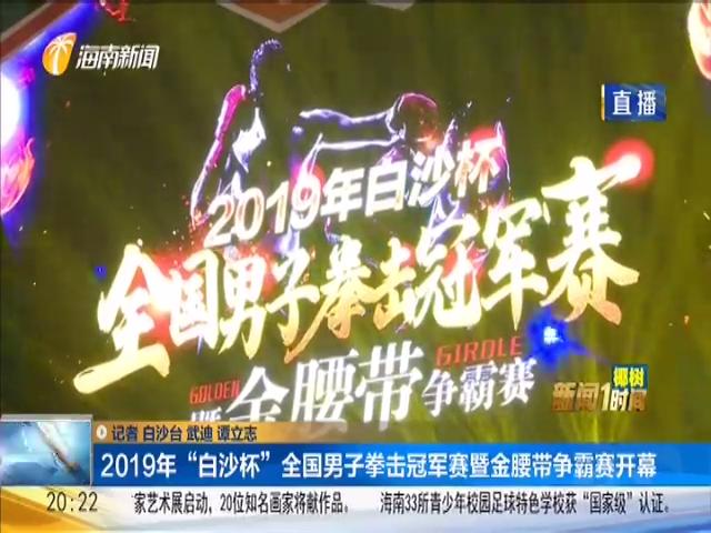 """2019""""白沙杯""""全国男子拳击冠军赛暨金腰带争霸赛开幕"""