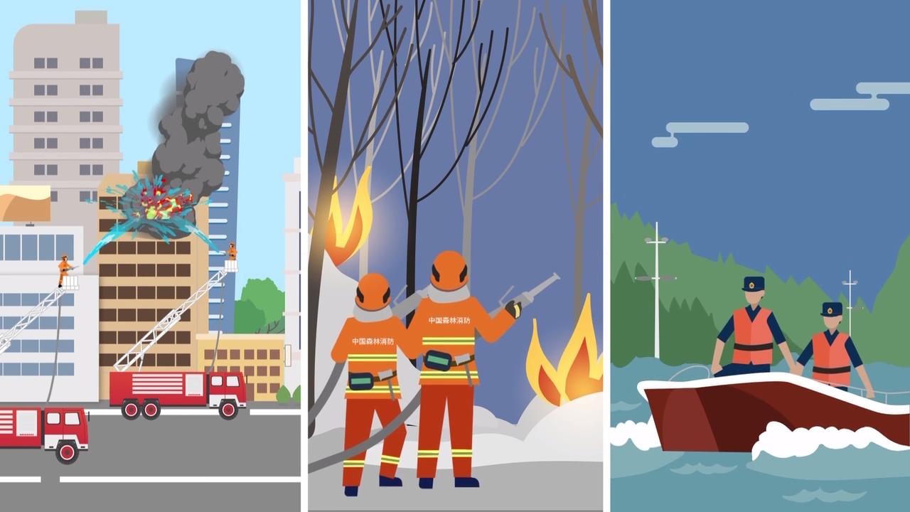 四分钟带你了解国家综合性消防救援队伍