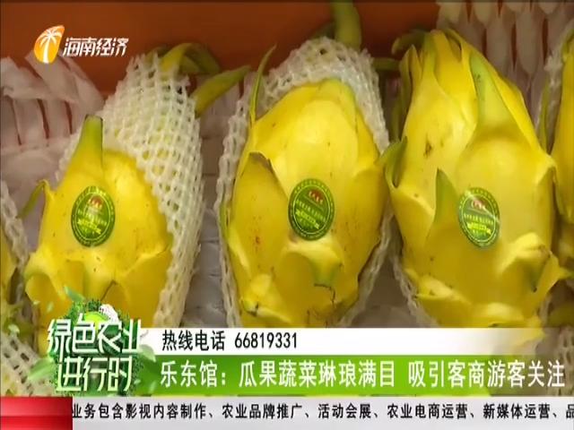乐东馆:瓜果蔬菜琳琅满目 吸引客商游客关注