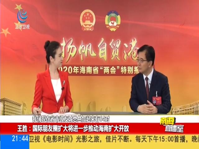 """王胜:政府工作报告内容""""接地气""""为扩大开放提供行动指南"""