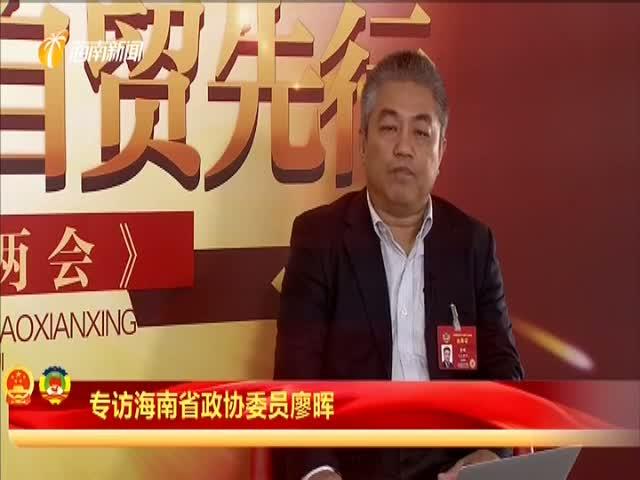 廖晖:立法先行 推进自贸港建设