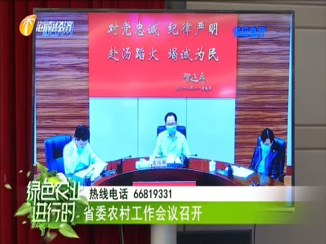 省委农村工作会议召开