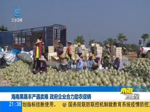 海南果蔬丰产遇卖难 政府企业合力助农促销