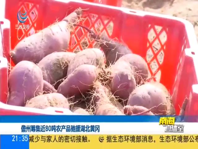 儋州籌集近80噸農產品馳援湖北黃岡