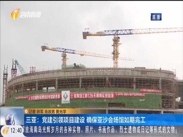 三亚:党建引领项目建设 确保亚沙会场馆如期完工