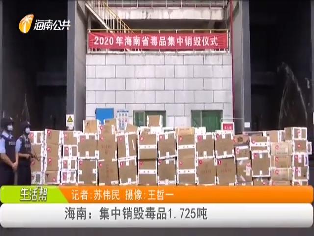 海南:集中销毁毒品1.725吨