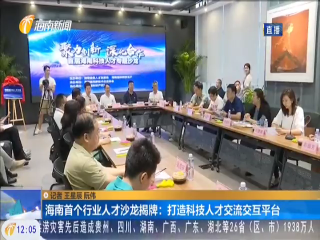 海南首个行业人才沙龙揭牌:打造科技人才交流交互平台