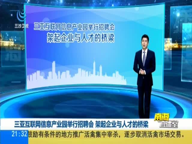 三亚互联网信息产业园举行招聘会 架起企业与人才的桥梁