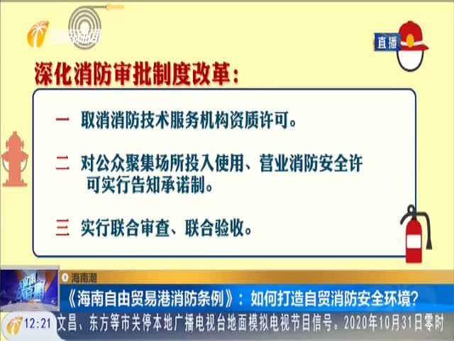 海南潮《海南自由贸易港消防条例》:如何打造自贸消防安全环境?