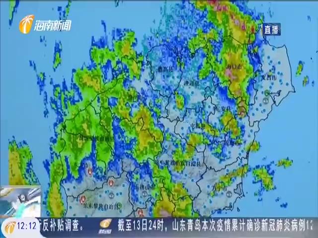 """台风""""浪卡""""下线 海南东南半部地区仍有持续性强降雨"""