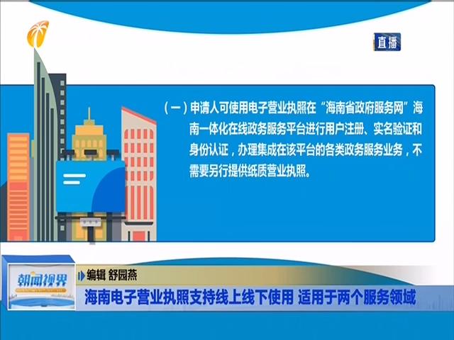 海南电子营业执照支持线上线下使用 适用于两个服务领域