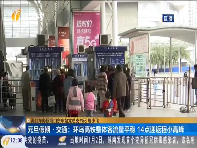 元旦假期 · 交通:环岛高铁整体客流量平稳 14点迎返程小高峰