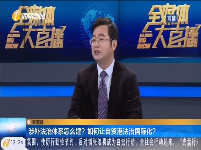 海南潮:涉外法治体系怎么建?如何让自贸港法治国际化?