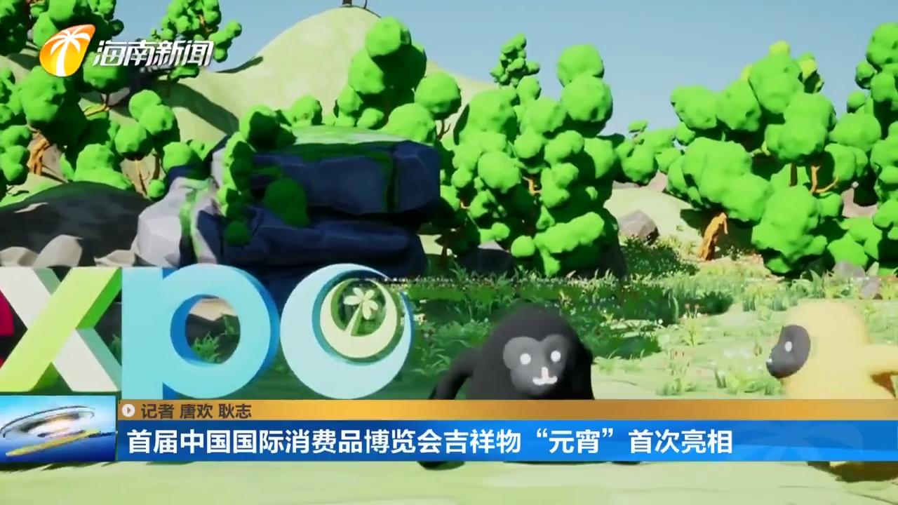 """首届中国国际消费品博览会吉祥物""""元宵""""首次亮相"""