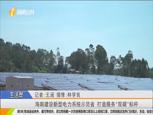 """海南建設新型電力系統示范省 打造服務""""雙碳""""標桿"""