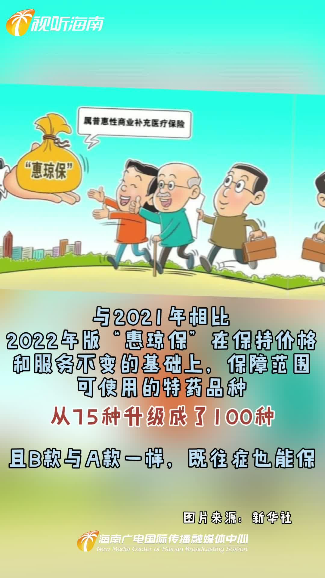 """海南人福利!投59元起最高保210万元!海南2022年版""""惠琼保""""上线"""
