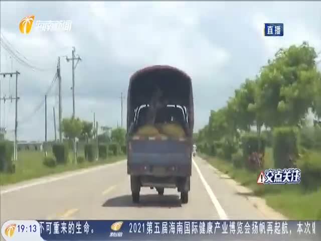 """记者定安乡镇调查 三轮车""""货厢载人""""成常事"""