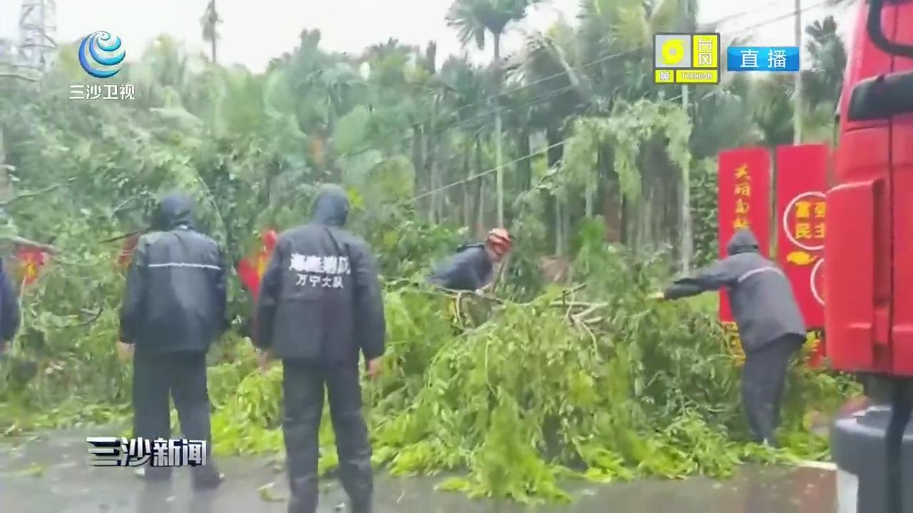 万宁:消防部门严阵以待 周密部署抵御台风
