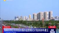 自贸进行时:海南自贸区信用综合服务监管模式计划2020年建立