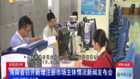 海南省召开新增注册市场主体情况新闻发布会