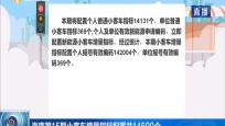 海南第15期小客车增量指标配置共14500个