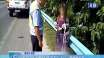 万宁:高速路上赶孩子下车 冲动父母懊悔不已