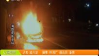 轿车当街冒烟起火 消防赶到化险为夷